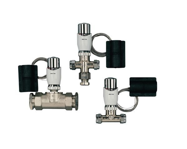 Drayton 3-way tap thermostat with so sensor 15mm
