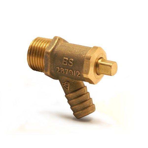 Pegler Yorkshire Prestex 833 drain cock 1/2 Brass