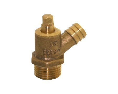 Midland Brass brass screwed drian cock (Type-A) 1/2
