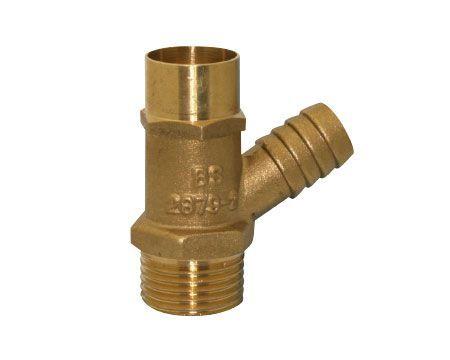 Midbras Midland Brass brass screwed drian cock (Type-A) lockshield WRAS1/2
