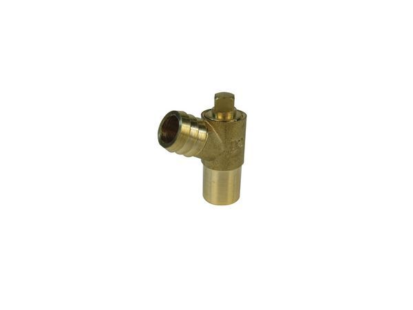 Midbras Midland Brass brass plain shank drain cock (Type-B) 15mm