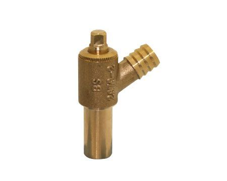 Midbras Midland Brass brass extended plain shank drain cock (Type-A) 15mm