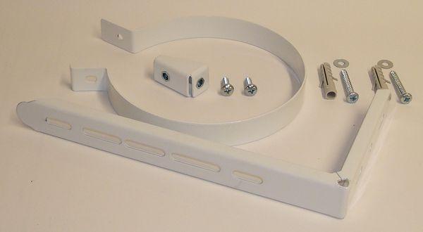 Parts flue support bracket kit 125mm White