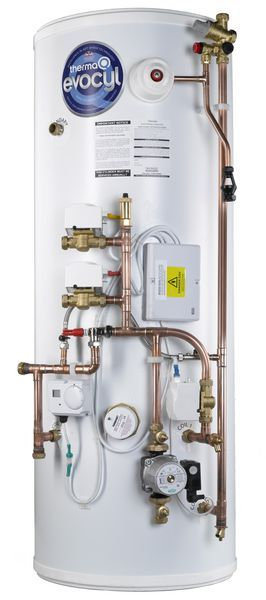 ThermaQ Evocyl high efficiency indirect efficiency pre-plumbed twin zone cylinder 250ltr