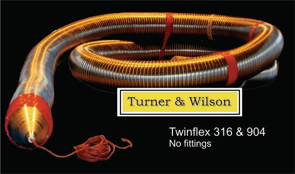 Turner and Wilson male twinflex multifuel flue liner 5