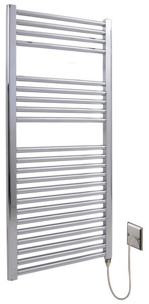 Wolseley Own Brand Center electric straight towel warmer 1200 x 500mm Chrome