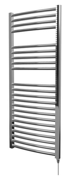 Wolseley Own Brand Center Center Brand electric curved towel warmer 1200 x 500mm Chrome
