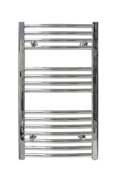 Wolseley Own Brand CenterRail curved towel warmer 862 x 500mm Chrome