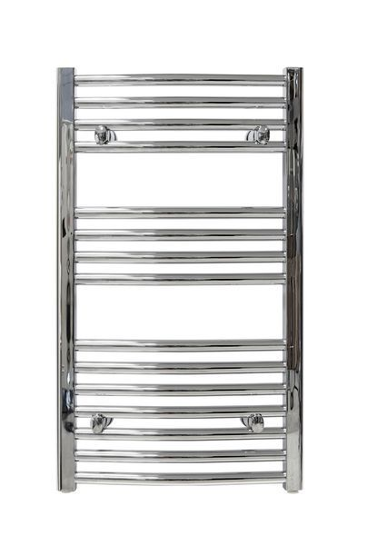 Wolseley Own Brand CenterRail curved towel warmer 1222 x 500mm Chrome