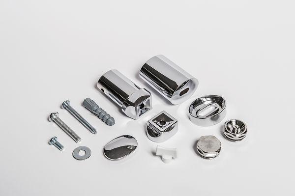 Wolseley Own Brand CenterRail bracket kit for curved towel warmer Chrome