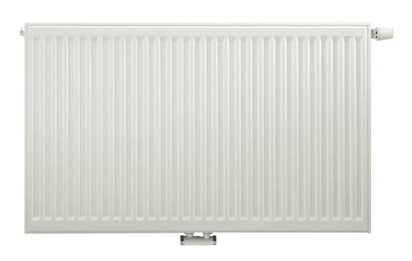 Caradon Stelrad Vita Eco K2 radiator 600 x 2000mm with 15mm angled valve