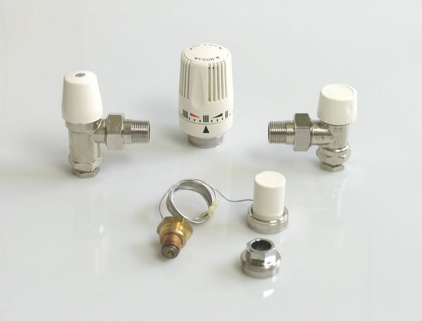 Myson LST close couple thermostatic radiator valve kit 15mm x 1/2