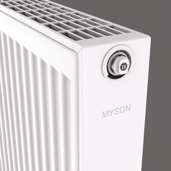 Myson Select Compact double convector radiator 500 mm X 1200 mm 6080 BTU/h