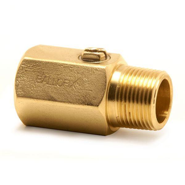 Pegler Yorkshire Ballofix 3310YA male x female valve 1/2 Brass
