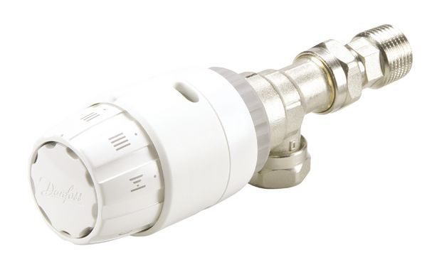 Danfoss RAS-C2 angled thermostatic radiator valve 15mm
