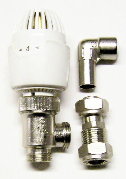 Invensys Drayton RT212 push fit angled valve and internal head 10mm