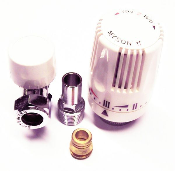 Myson thermostatic radiator valve 10mm Chrome Chrome Plated