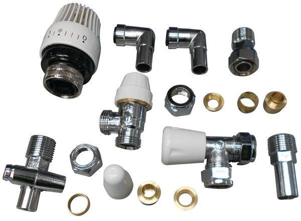 Siemens thermostatic radiator valve and lockshield wheel head drain off 15/10mm Chrome