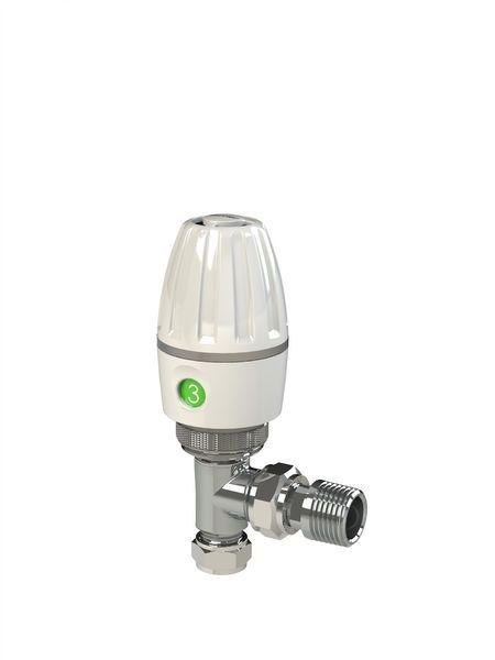 Pegler Yorkshire angled thermostatic radiator valve 10/8mm