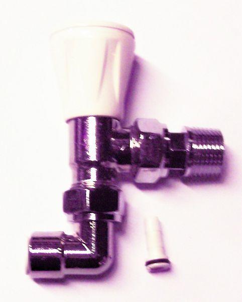 Myson Matchmaster pushfit- 10 mm 90 deg white chrome plated (20)