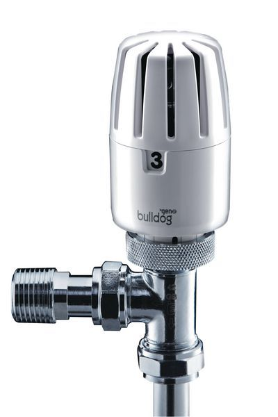 Yorkshire Bulldog 2 thermostatic radiator valve and lockshield valve pack 8/10mm