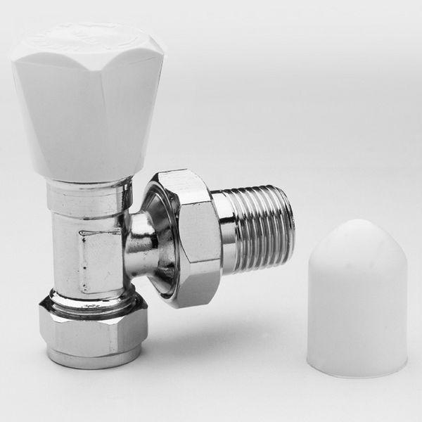 Pegler Yorkshire Jazz angle radiator valve 1/2 x 10mm Chrome Plated