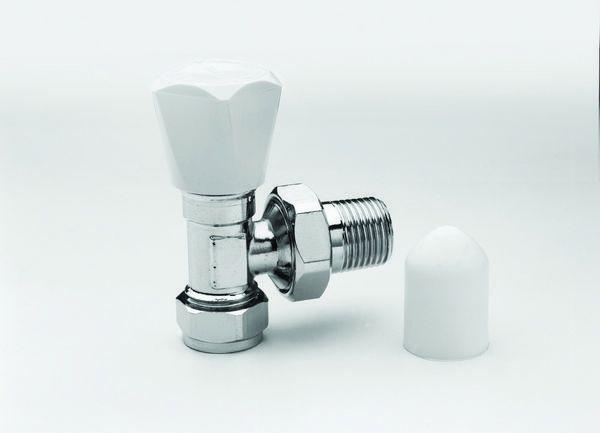 Pegler Yorkshire Jazz angled radiator valve 1/2 x 15mm Chrome