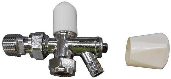 Pegler Yorkshire Mercia radiator lockshield and drain-off valve 15mm