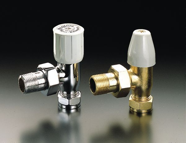 Pegler Yorkshire Belmont 97LS angled lockshield 15mm x 1/2 Brass