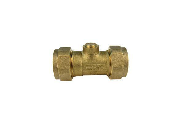 Midland Brass brass slotted isolating valve 15mm