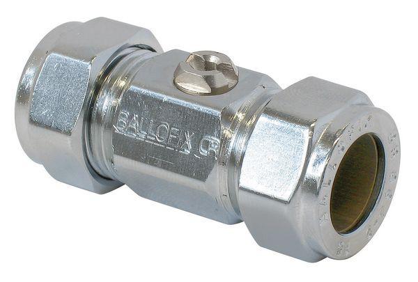 Pegler Yorkshire Ballofix 3381YA copper x copper valve 15mm Brass