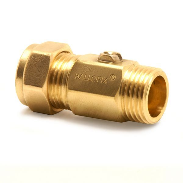 Pegler Yorkshire Ballofix 3375YA mixing valve 15mm x 1/2 Brass