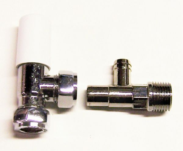 Myson Matchmaster lockshield drain off valve 15mm Chrome