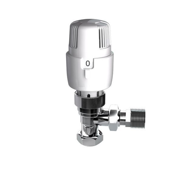 Intatec I-Therm angled thermostatic radiator valve 15mm