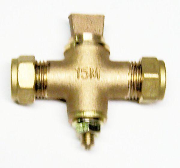 Midbras Midland Brass scottish pattern sludge cock 15mm Bronze