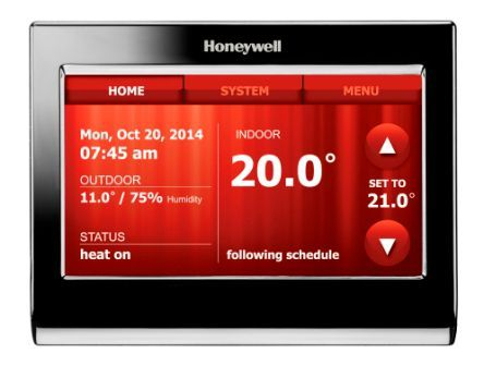 Honeywell voice controlled connected thermostat