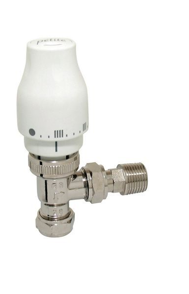 Myson Petite thermostatic radiator valve 15mm Nickel