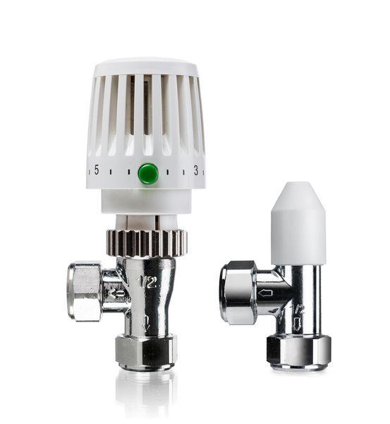 Honeywell VTL20 thermostatic radiator valve and angled lockshield 15mm