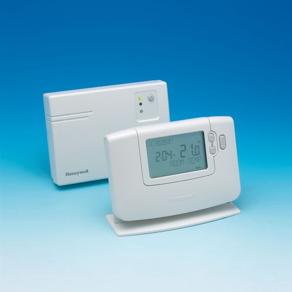 Honeywell CM927 programmable room thermostat and day radio frequency controlled