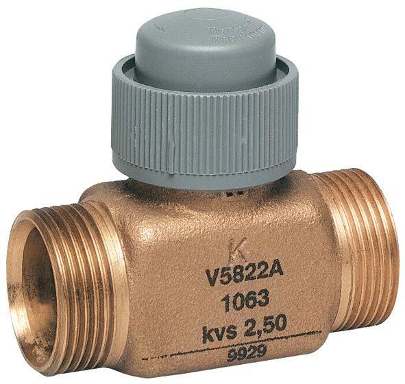 Honeywell V5822A1022 2 port valve dn15 15mm kv 0.4