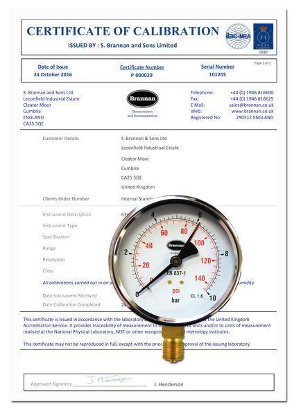 100MM B/ENTRY PRESSURE GAUGE 0-10BAR 3/8