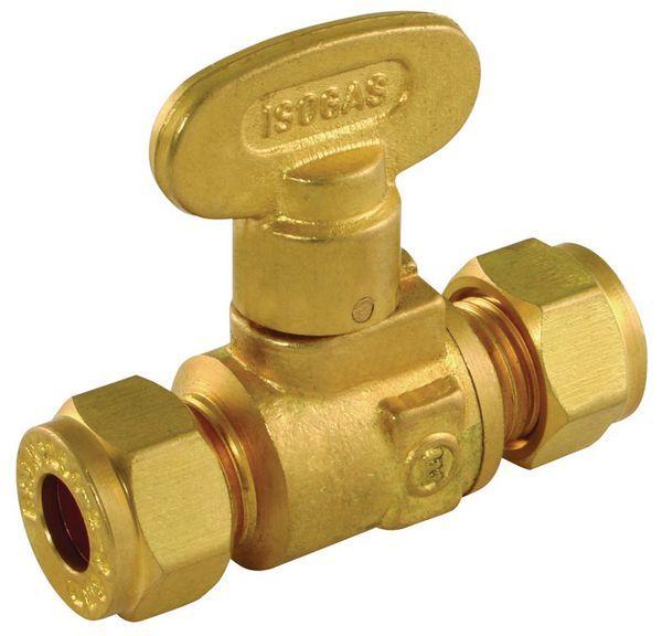 Wolseley Own Brand Center Center Brand fan keys gas isolation valve 15mm