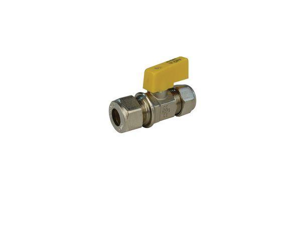 Wolseley Own Brand Center Center Brand gas mini ball valve 10mm Brass