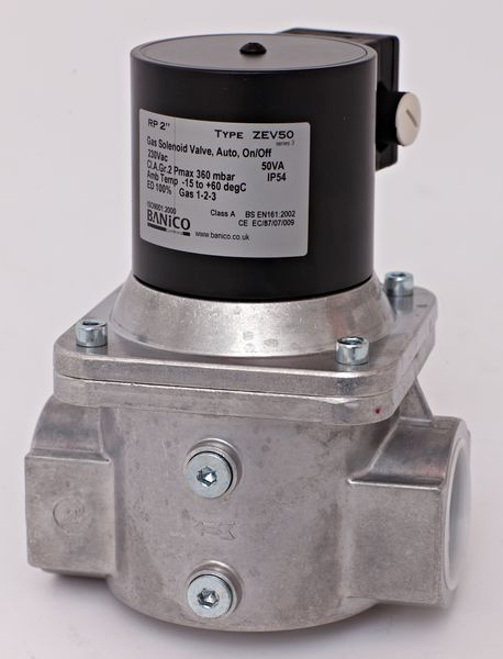 Fantini Banico ZEV32 gas solenoid valve with automatic reset 1.1/4 230v
