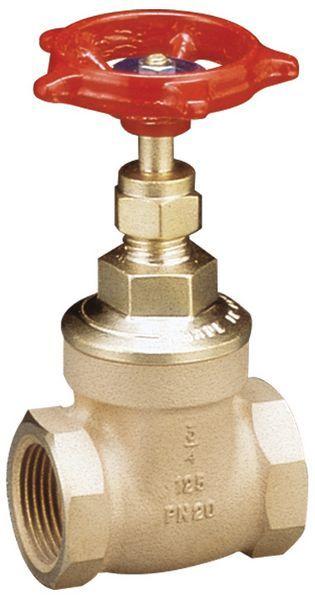 Pegler Yorkshire 1070/125 wheel head gate valve (BSPT) 25mm Bronze