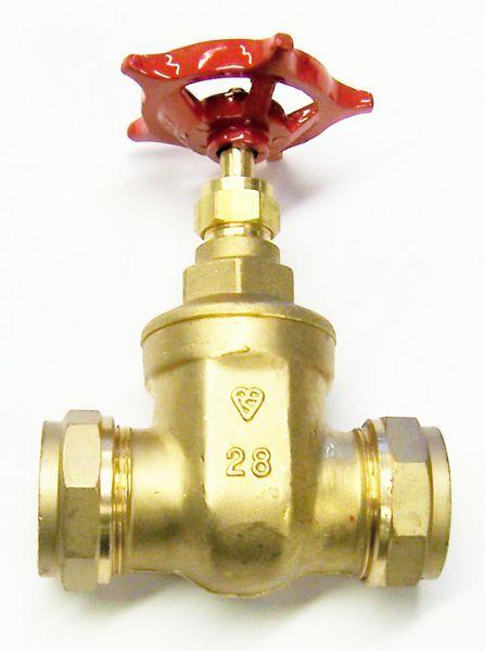 Pegler Yorkshire Prestex 63 wheelhead copper x copper gate valve 28mm Brass