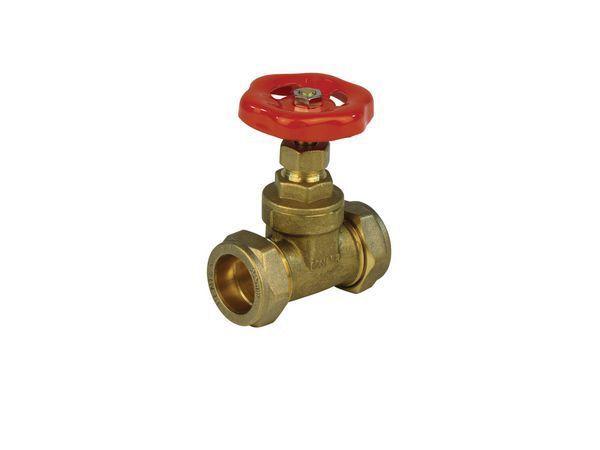 Wolseley Own Brand Center Center Brand copper x copper compression wheel head gate valve 15mm Brass