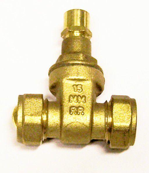Midbras Midland Brass brass copper x copper lockshield gate valve 15mm