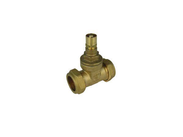 Midland Brass brass copper x copper lockshield gate valve 22mm