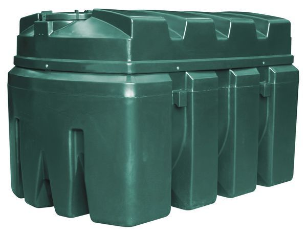 Kingspan Titan/Ecosafe bottom outlet plastic oil tank 2500ltr